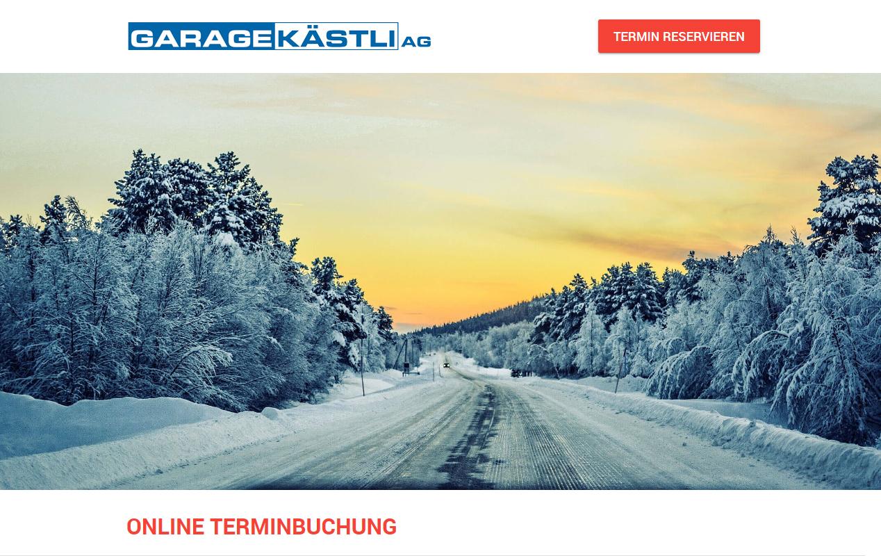 Online Termin buchen Garage Kästli